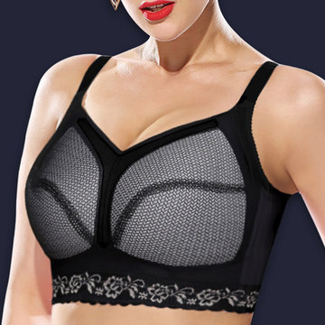 Plus Size Wireless Breathable Cotton Lining Bra