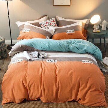 4Pcs 100% Cotton Thicken Bedding Set