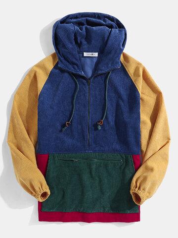 Vintage Corduroy Pullover Hoodies