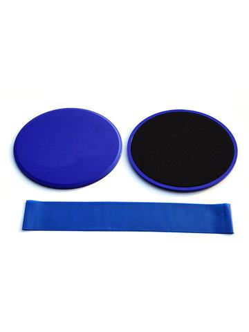 <US Instock> 3pcs Fitness Core Sliders Pad Resistance Bands Set