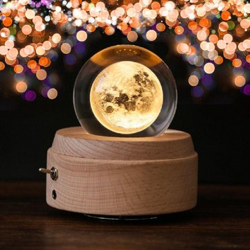 Rotary Crystal Ball Music Box