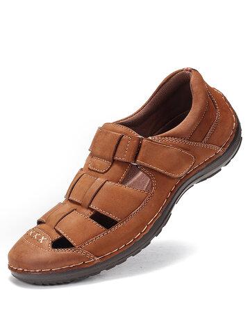 Menico Men Retro Casual Leather Sandals