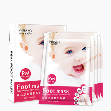 PIBAMY 5 Pairs Exfoliating Peel Foot Mask