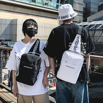 Men's Messenger Chest Bag Ins Large Capacity Canvas Shoulder Bag Men And Women Outdoor Sports And Leisure Backpack фото