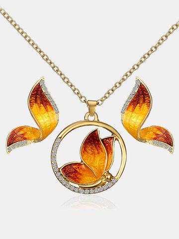 Luxury Butterfly Wings Jewelry Set