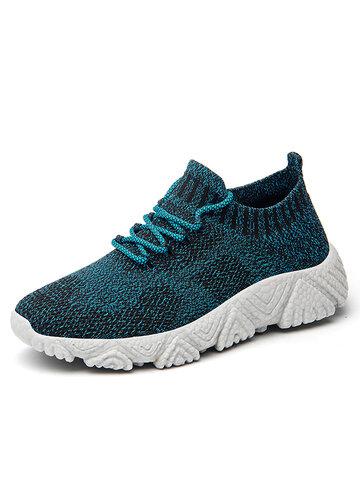 Tejido de punto transpirable Soft Sole Casaul Sock Sneakers