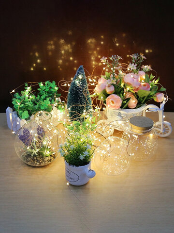 10M 100LEDs Battery Powered Waterproof Silver Wire String Light For Wedding Party Decor