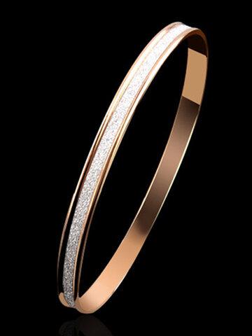 Trendy Simple Metal Scrub Bracelet