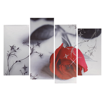 4Pcs Rose Flower Canvas Painting Print Picture Home Wall Art Decoration No Frame