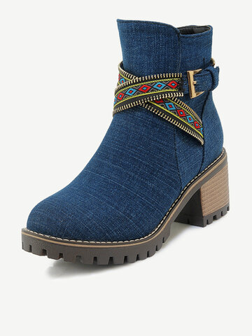 Folkways Band Warm Casual Boots