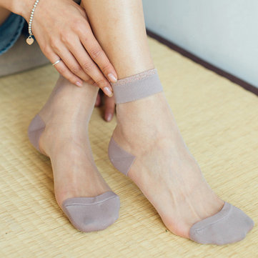 Women Elastic Ultra-thin Transparent Socks