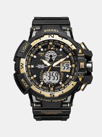 SMAEL Dual Display Sports Watch