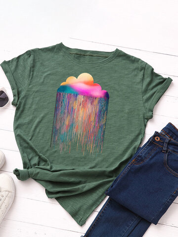 Rainbow Rain Printed T-shirt