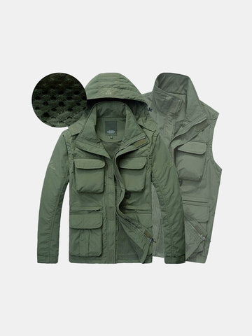 Quickly Dry Detachable Hood Jacket