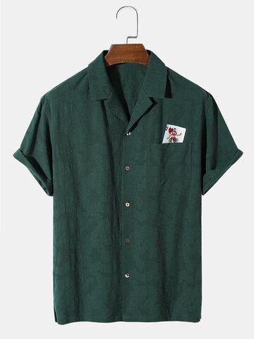 Cotton Poker Embroidery Shirt