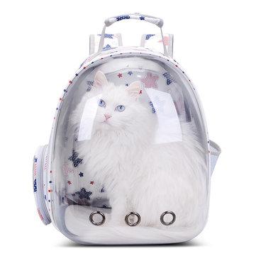 Дышащий прозрачный рюкзак для домашних животных
