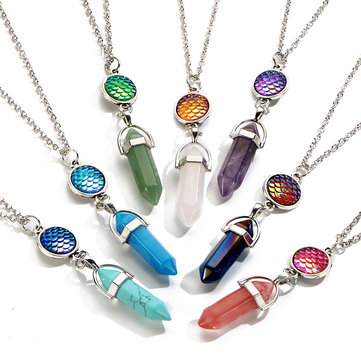 Women's Natural Stone Colorful Necklace