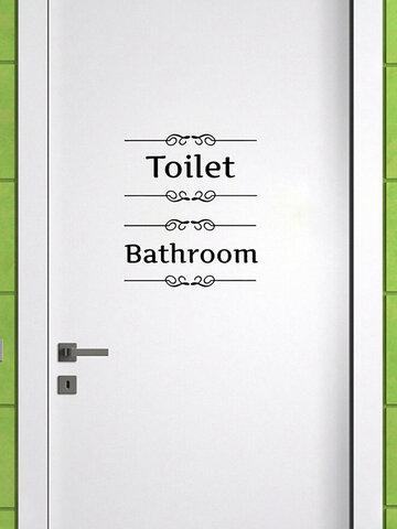 Amazing Bathroom Wall Sticker Toilet Door Decal Home Decor