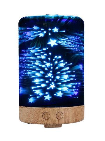 Star Sky Fireworks 3D Glass Aromatherapy Diffuser