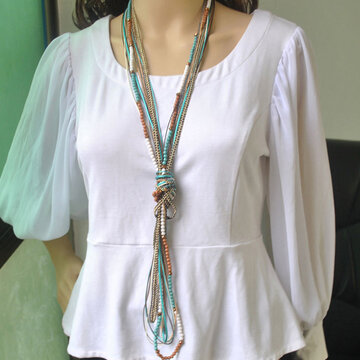 Metal Chain Multi-layer Necklace