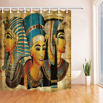 Egypt Ethnic Style Shower Curtain Mat
