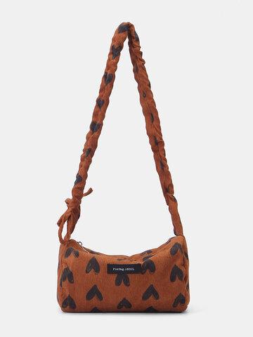 Handtasche mit großem Fassungsvermögen und Herzdruck