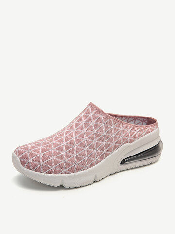 Knitted Backless Platform Sneakers