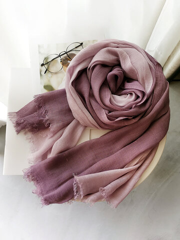 Autumn And Winter Gradient Color Matching Ladies Forest Women Scarf