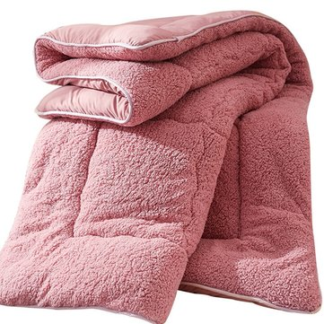 Verdicken Sie Shearling Blanket Winter Soft warme Bettdecke