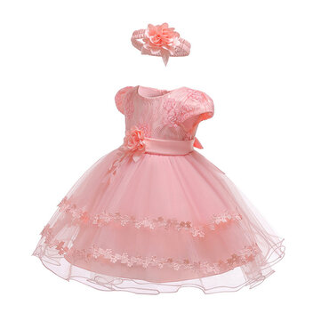 Lace Flower Girls Dress per 0-24 mesi
