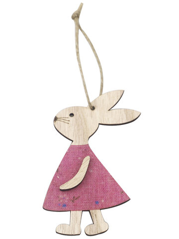 Easter Decoration Wooden Easter Bunny Pendant Home Decoratio