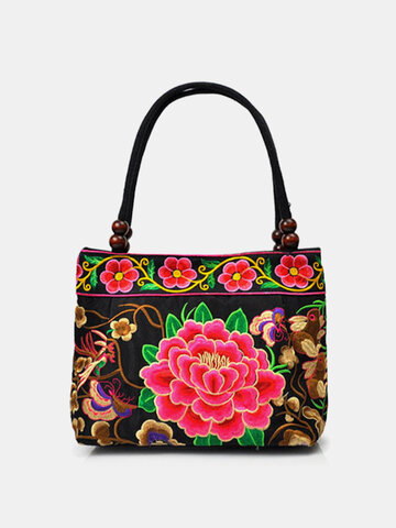 Ethnic Embroidered Floral Handbag Shoulder Bag