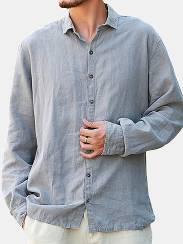 L-5XL Thin Casual Long Sleeve Shirt