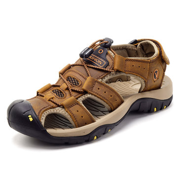 Large Size Men Outdoor Leather Sandals