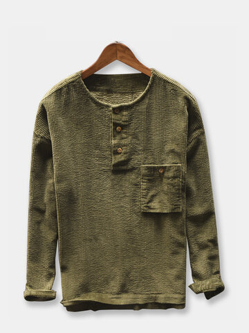 Corduroy Vintage Thick Loose Casual T shirt