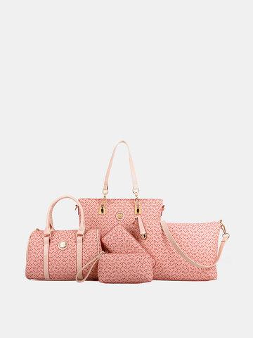 6 PCS Print Large Capacity Handbag Shoulder Bag Tote