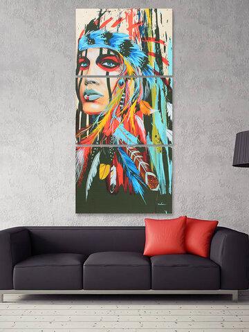 3 قطع الحديثة مجردة قماش اللوحة فرملس