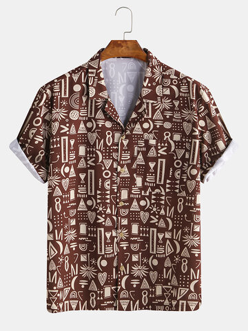 Ethnic Tribal Style Totem Printed Shirt