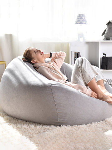 Solid Color Cotton Bean Bag Chair Lazy Sofa