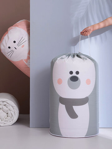 Cartoon Clothing Quilt Storage Bag Drawstring Mouth Moisture-Proof Waterproof Quilt Finishing Bag