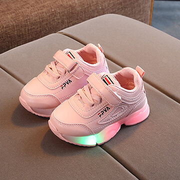 Unisex Kids Comfy Slip Resistant Casual LED Glowing Sneakers