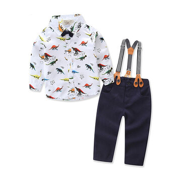 Dinosaur Print Boys Set For 6-36M
