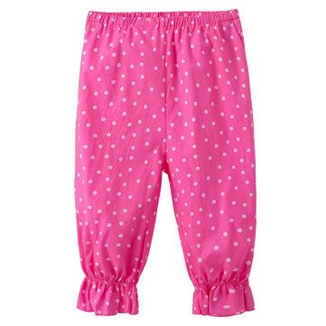 Rosa Punkt-Druck-Mädchen-Hosen für 2Y-9Y