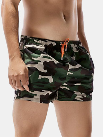 Shorts con Coulisse di Stile Hawaii Camuffamento