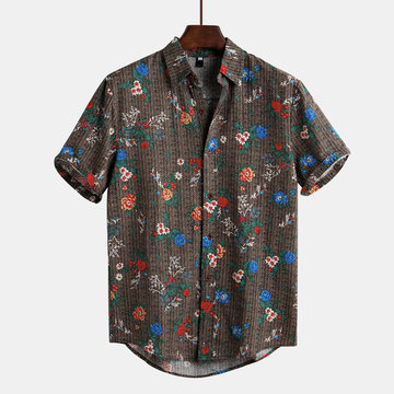 Floral Printed Ethnic Style Funny Hawaiian Shirt