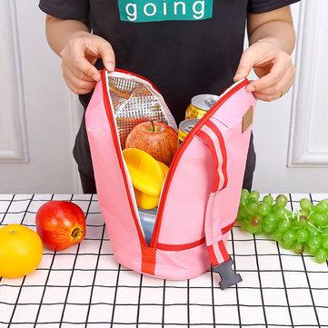 SaicleHome Verdickte Mittagessen Tragetasche Frischhaltende Kühltasche Tragbarer Gurt Essentasche Picknicktasche Reisetasche