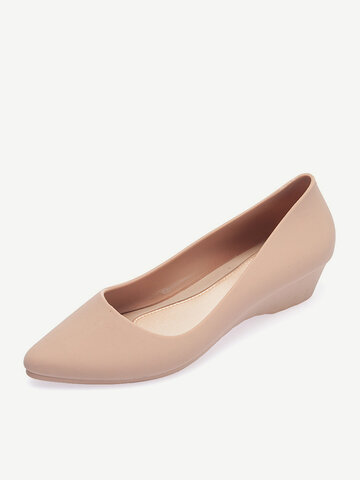 Comfy Soft Sole Casual Slip On Wedges Loafers