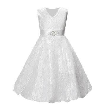 Girls Lace Bow Princess Dress For 4Y-15Y