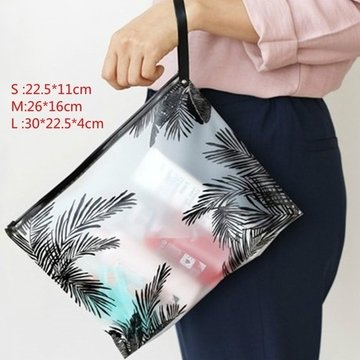 Women Clear Cosmetic Bags PVC Toiletry Travel  Bags