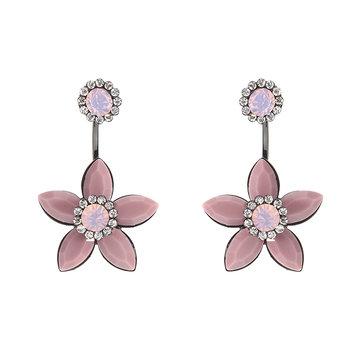 JASSY® Boucles d'oreilles élégantes en diamant en forme de fleur